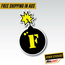 F BOMB 2 JDM CAR STICKER DECAL Drift Turbo Euro Fast Vinyl #0680