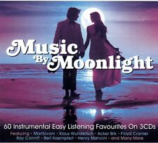 MUSIC BY MOONLIGHT:  60 HITS .. LES BAXTER,  SANTO & JOHNNY, PERCY FAITH &  MORE