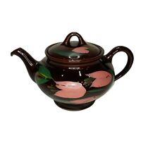 "Royal Canadian Art Pottery Dripless Teapot Hamilton Canada Hand Painted 9""w."