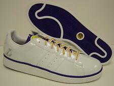 New Mens Sz 18 ADIDAS Campus II Los Angeles LA Lakers White NBA Sneakers Shoes
