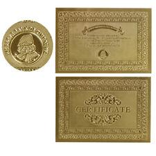 WR 5PCS Zimbabwe Rock Certificates for Gold Foil Z$100 Trillion Dollar Banknote