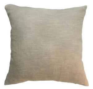 NL32a Pure 100% Soft Linen Plain Almond Cushion Cover/Pillow Case *Custom Size*