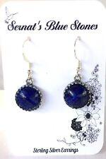 Lapis Lazuli Earrings .925 Sterling Silver Hook