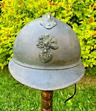 WW1 FRENCH STEEL HELMET,GREAT WAR ORIGINAL,UNTOUCHED SLEEPER FROM FRANCE.