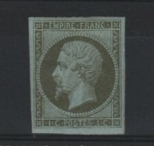 """FRANCE STAMP TIMBRE N° 11 """" NAPOLEON III 1c OLIVE 1860 """" NEUF x TB A VOIR  R475"""