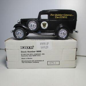 "Ethyl Gasoline # 1 (Sampler) 1932 Ford Panel Van "" Diecast Coin Bank, #9396 NIB"