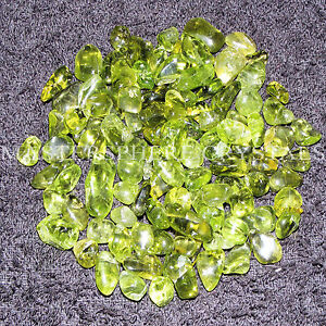 20 x Peridot Tumblestones 4mm-7mm A Grade Crystal Gemstone Wholesale Bulk