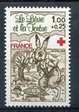 FRANCE 1978, timbre 2024, CROIX ROUGE, LIEVRE et TORTUE, neuf**