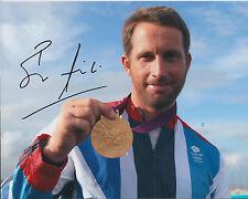 Ben AINSLIE Autograph 10x8 Signed Photo AFTAL COA Sailing Finn Gold Medal