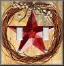 Metal Light Switch Plate Cover - Farmhouse Decor Red Barn Star Wreath Home Decor