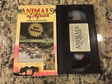 ANIMALS OF AFRICA VOL 3 AFRICA IN FLIGHT RARE CELEBRITY VIDEO VHS w/JOAN EMBERY!