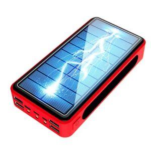 80000mAh Power Bank Solar Wireless Portable Phone Charger 4 USB LED Light