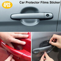 4 pcs Car Door Handle Paint Scratch Protector Film Stickers Accessories Clear