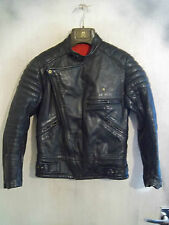 "Vintage années 60 UK Made kershaws Cuir Veste Moto Taille 36"" XS"