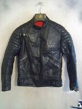 """VINTAGE 60'S UK MADE KERSHAWS LEATHER MOTORCYCLE JACKET SIZE 36"""" XS"""