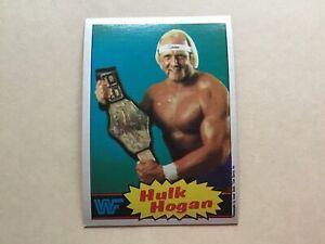 1985 Topps WWF WWE Wrestling Card #16 HULK HOGAN ROOKIE