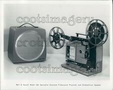Vintage Bell & Howell Film Projector & Orchestricon Speaker Press Photo
