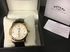 Gents Rotary  Cambridge Rose Gold Watch on Leather Strap GS02702/01  RRP.£165