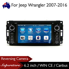 "6.2"" Car DVD Nav GPS Head Unit Stereo Radio For Jeep Wrangler 2007-2016"