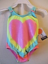 NWT Girls 6/9 12 Month Carter's Pink Sparkly Heart Bathing Suit Swimsuit UPF 50+