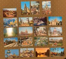Disneyland Original Vintage postcards lot of 20