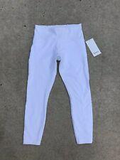 LULULEMON Train Times 7/8 Pant Women's Leggings Size 10 White NEW w/Tags $98