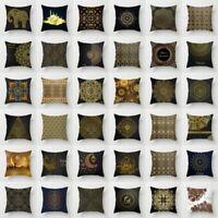 Gold Totem Pillow Case Polyester Sofa Car Throw Cushion Cover Home Decor 18''