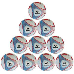 10x Erima Fußball Hybrid Lite 350 Power Jugendball | Ballpaket | Ballset Gr. 4