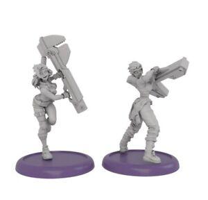 30mm 2pcs Resin Figure Model Kit Mini Warriors Unpainted Unassambled