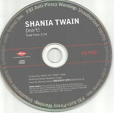 SHANIA TWAIN Don't RARE stock Number MRNR 02900 PROMO DJ CD Single 2005 USA