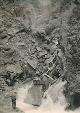 Accident d'Autocar 1955 - Carcasse Véhicule Ravin de la Dranse Hte-Savoie- PR 86