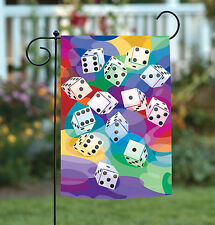 Toland Roll the Dice 12.5 x 18 Colorful Game Die Play Garden Flag