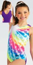 "Nwt E3901 so colorful! Rainbow Burst Gk â""¢ gymnastics leotard As"