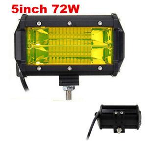 1pc 72W CREE LED Work Light Bar Flood Beam Off road Driving Fog Lamp ATV 4WD