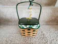 Longaberger 2007 Lucky Wish St. Patrick'S Day Basket Combo- Excellent Condition!