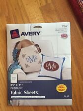 2 Avery printable fabric sheets