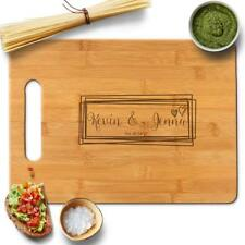 Froolu Overlaping Squares laser engraved cutting board for Monogram Names