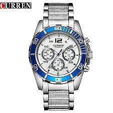 CURREN 8073 Silver Stainless Steel White dial Men's Watch