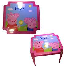 PEPPA PIG mesa de plástico rosa 44hx55x50 cm de niña