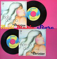 LP 45 7''CHRISTIAN Dolce donna Non so dir ti voglio bene 1976 italy no cd mc vhs
