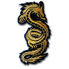 Gold Dragon Patch Iron on Chopper Jacket Biker Motorcycle Rider Vest Tattoo Race