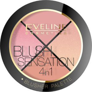 Eveline Blush Sensation 4in1 Blusher Palette for Face 12g