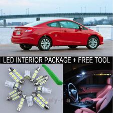 White LED Interior Package Light Bulb 8X Kit For 2013 2015 Honda Civic + Tool J