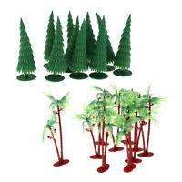 20Pcs 13cm HO Pine Model Trees for Train Railroad Scenery DIY Diorama Layout