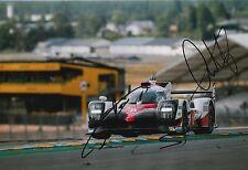 BUEMI, Nakajima, DAVIDSON firmato a mano Toyota Le Mans 2017 foto 12x8 7.