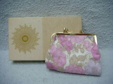 Don Roy original vintage dual clasp cosmetic bag
