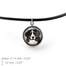 Bernese Mountain Dog, pendant for people who love dogs. Photojewelry.Handmade.UK