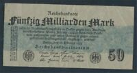 German Empire Rosenbg: 122c, without FZ used (III) 1923 50 billion. Mark(8981311