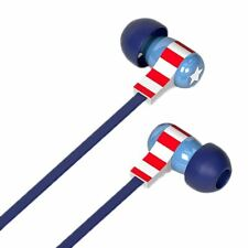 Marvel Captain America In-Ear Earphones with Remote - Earbuds Boxed Tribe