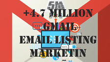 +4.7 Million Email Listing Marketing SEO 'Gmail Only'